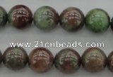 CGA88 15.5 inches 8mm round red green garnet gemstone beads