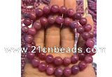 CGB2500 7.5 inches 6mm round ruby gemstone beaded bracelets