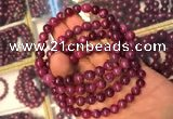 CGB2510 7.5 inches 6mm round ruby zoisite beaded bracelets