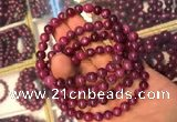 CGB2511 7.5 inches 7mm round ruby zoisite beaded bracelets