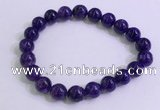CGB2562 7.5 inches 9mm round charoite gemstone beaded bracelets