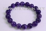 CGB2572 7.5 inches 11mm round charoite gemstone beaded bracelets