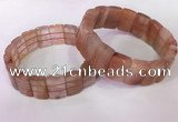 CGB2635 12*18mm faceted rectangle red rutilated quartz bracelets