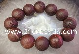 CGB3009 7.5 inches 20mm round agate bracelet wholesale