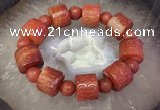 CGB3017 7.5 inches 15*19mm carved tube agate bracelet wholesale