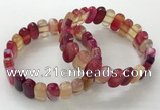 CGB3103 7.5 inches 8*15mm oval agate gemstone bracelets