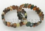 CGB3110 7.5 inches 8*15mm oval agate gemstone bracelets