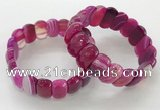 CGB3125 7.5 inches 10*20mm faceted oval agate bracelets