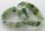 CGB3128 7.5 inches 10*20mm faceted oval agate bracelets