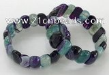 CGB3131 7.5 inches 10*20mm faceted oval agate bracelets