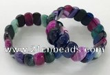 CGB3132 7.5 inches 10*20mm faceted oval agate bracelets