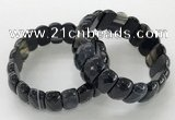 CGB3134 7.5 inches 10*20mm faceted oval agate bracelets