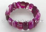CGB3142 7.5 inches 11*23mm faceted oval agate bracelets