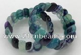 CGB3150 7.5 inches 11*23mm faceted oval agate bracelets