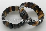CGB3151 7.5 inches 11*23mm faceted oval agate bracelets