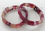 CGB3168 7.5 inches 12*15mm rectangle agate bracelets wholesale