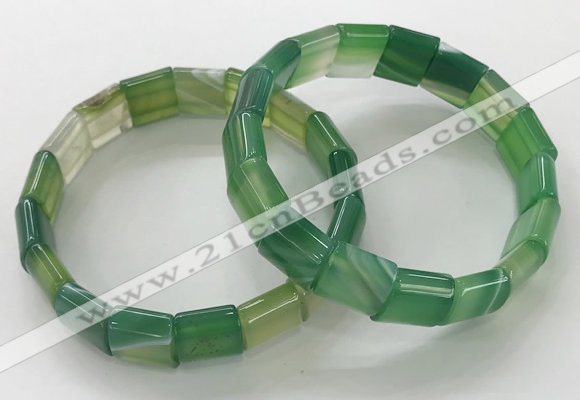 CGB3173 7.5 inches 12*15mm rectangle agate bracelets wholesale