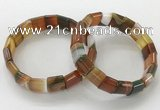 CGB3176 7.5 inches 12*15mm rectangle agate bracelets wholesale