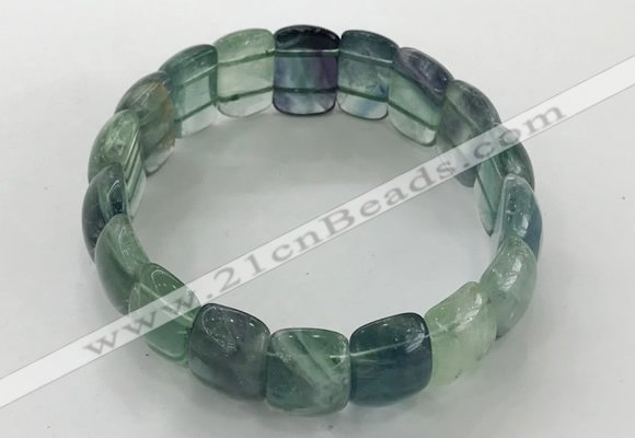 CGB3226 7.5 inches 12*20mm oval fluorite gemstone bracelets