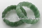 CGB3231 7.5 inches 12*20mm oval green aventurine bracelets