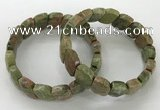 CGB3270 7.5 inches 10*15mm faceted marquise unakite bracelets