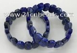 CGB3279 7.5 inches 10*15mm faceted oval lapis lazuli bracelets