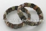 CGB3334 7.5 inches 10*15mm rectangle rainforest agate bracelets