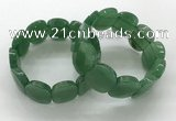 CGB3351 7.5 inches 19*25mm faceted oval green aventurine bracelets