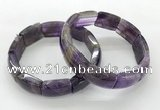 CGB3402 7.5 inches 15*21mm amethyst bracelets wholesale