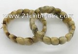 CGB3448 7.5 inches 10*15mm faceted marquise golden tiger eye bracelets
