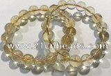CGB4031 7.5 inches 10mm round citrine beaded bracelets wholesale