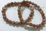 CGB4065 7.5 inches 7mm round sunstone beaded bracelets