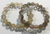 CGB4080 7.5 inches 11mm round golden rutilated quartz beaded bracelets