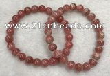 CGB4118 7.5 inches 7.5mm - 8mm round rhodochrosite beaded bracelets