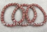 CGB4122 7.5 inches 7mm - 7.5mm round rhodochrosite beaded bracelets