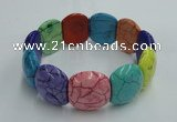 CGB420 7.5 inches 18*22mm dyed turquoise gemstone bracelet