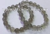 CGB4522 7.5 inches 10mm round grey moonstone beaded bracelets