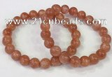 CGB4534 7.5 inches 10mm round golden sunstone beaded bracelets