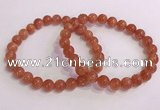 CGB4543 7.5 inches 8mm round golden sunstone beaded bracelets