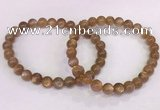 CGB4548 7.5 inches 7mm round sunstone beaded bracelets