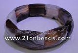 CGB460 8 inches 18*25mm faceted rectangle botswana agate bracelet