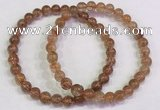 CGB4612 6mm - 7mm round golden rutilated quartz beaded bracelets
