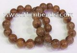 CGB4623 13mm - 14mm round golden rutilated quartz beaded bracelets