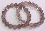 CGB4633 10mm round red rutilated quartz beaded bracelets