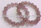CGB4634 12mm - 13mm round red rutilated quartz beaded bracelets