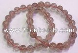 CGB4638 9mm round red rutilated quartz beaded bracelets