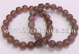 CGB4642 10mm round red rutilated quartz beaded bracelets