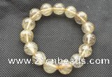 CGB655 7.5 inches 12mm round AA golden rutilated quartz bracelets