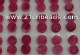 CGC107 12mm flat round druzy quartz cabochons wholesale