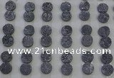 CGC108 12mm flat round druzy quartz cabochons wholesale